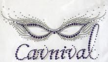 CARNIVAL Mask hot fix motif Wholesale Rhinestone Heat Transfers