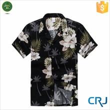 2015 Men's print floral surf beach short sleeved shirts