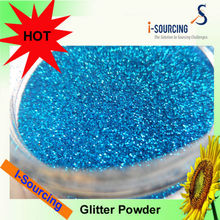 Colorful glitter power for crafts and decoration