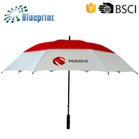 Custom Made Logo Printed Windproof Double Umbrella Giveaways