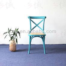 RCH-4001-19 Oak Furniture Rental Wedding Cross Back Chair