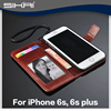 Hot Magnetic Leather Case For iPhone 5 6 6s Wallet Case Photo Frame Cover With Card Holder Stand