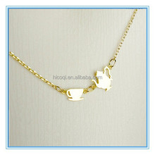 Stainless Steel Gold Plated Tiny Tea Pot Tea Cup Necklace