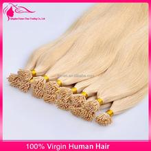 100% Italian Keratin Glue Higher Quality Virgin Human Hair 10-30 Inches Double Drawn Cuticle Remy Hot Fusion Hair Extension