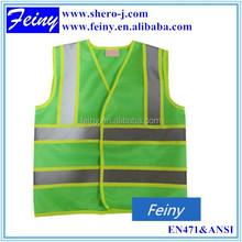 EN1150 promotion warning reflective children's hi vis vests