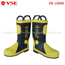 Firefighting working boots,fireman safety protective boots