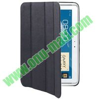 Cross Texture 4-fold Leather Case for Samsung Galaxy Note N8000