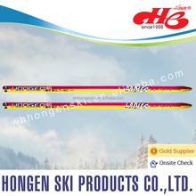 High quality cross country ski for lady-pink&yellow design, snow winter sport