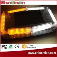 Emergency Hazard Warning LED Mini Bar Strobe Light with Magnetic Base Amber White 12V led strobe lights for motorcycles