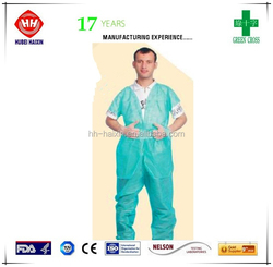 best selling products green PP spa uniform dresses one time used