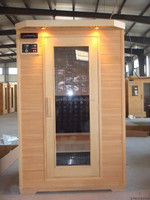 2015 Cheap Price Prefabricated Wooden Holland Spa sauna room Ceramic heaters Far infrared Sauna room