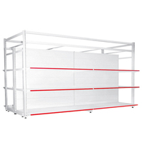 CE and ISO9001 Approved four post K/D display supermarket shelving
