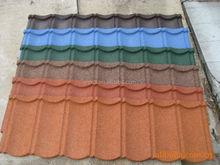 Waviness Stone Coated Roof Tile, Aluminum Zinc Roofing Shingle, Colorful Sand Coated Steel Roof