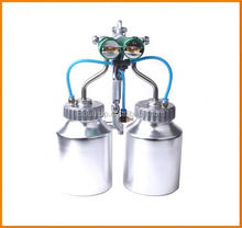 2015 hot on sales ningbo air tools very hot double nozzle plexus gun for use marble