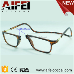 New mould high quality plastic magnet reading glasses
