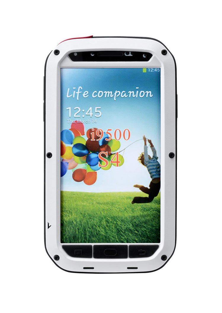 2014 Waterproof Shockproof Aluminum Metal case for s4 iv i9500