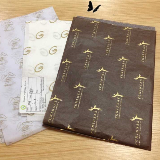 Custom paper for college clothing wrapping