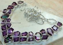 Amethyst & Mystic Quartz Sterling Silver Necklace