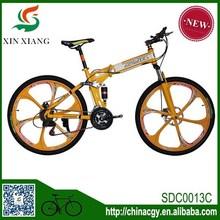 De China venta al por mayor bicicleta de doble suspensión plegable bicicleta de montaña