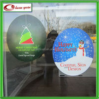 manufacturing uv resistant static cling christmas window decal