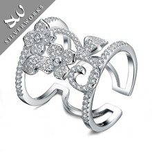 Flower Shaped Fine Jewelry Big Long Fashion Ring Finger Rings Photos