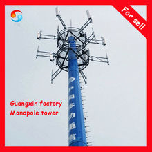Telecommunication GSM monopole tower Guangzhou factory