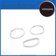 chrome exterior interior abs plastic accent tuning, Chrome Front Fog Light Cover for Peugeot 206-206CC