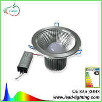 HOT 7W Indoor Recessed LED Downlight dimmable available aluminum shell long lifetime