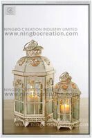 Hobby lobby Tinted Glass Moroccan star Candle Lantern
