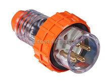 IP66 Three Phase Industrial Straight Plug 4P 10Amps