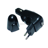 2in1 USB Wall Car Charger hot sale in supermarket with DC and usb wall charger ac 100-240v