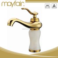 Elegant white jade golden faucet