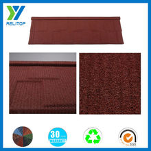 Sand coated chinese brick red metal roofing tiles