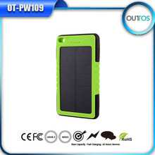 ISO9001 Newly launched portable solar panel charger, waterproof solar power bank for samsung