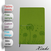 2015 new arrival A5/A6 dandelion embossed PU leather cover diary notebook for promotion and for gift
