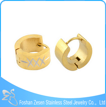 ZS08060 Stainless steel fashion 18 K gold plated huggies earrings