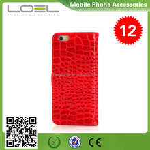 Latest crocodile pattern genuine leather phone case for Apple iPhone 6s 6 6 plus 5s 5 cover BO-CPI6020(6)