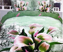 100% polyester printed fabric with reasonable price for home textile