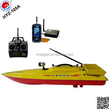 Yellow Bait Boat Casting Fishing Hooks and Detecting Fish