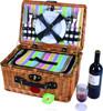 Fantastic wicker gift basket for festivals and decoration