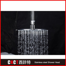 "31"" square Brush Surface 304 stainless steel LED bathroom shower head holder with suction cup"