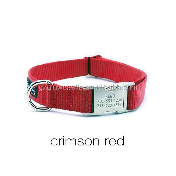 HEAVY DUTY Webbing Dog Collar with Laser Engraved Personalized Buckle (2).jpg