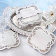 "Unique wedding decorations ""Be Our Guest!"" Enchanting Ceramic Coasters"