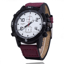 Hot selling canvas outdoor mens watch with compass