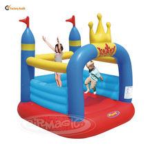 Piccolo rimbalzo castello bambino palestra toy-8303 corona pvc salto castello