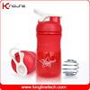 500ml plastic protein shaker bottle logo printing (KL-7064)
