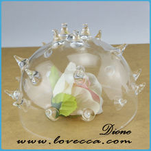 hand blown decor hanging glass ball with hole