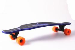 """Longboard Style 31""""x8.5"""" Blue Plastic Longboard Cruiser Complete skateboard"""