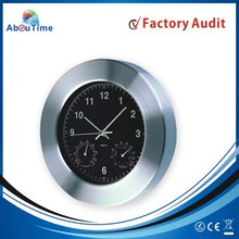 Quiet Sweep Aluminum Wall Clock with Calendar Wall Flip Clock for promotion