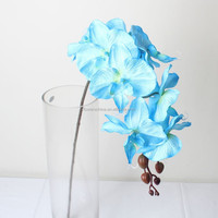 Indoor decorative cheap wholesale artificial blue orchid flowers
